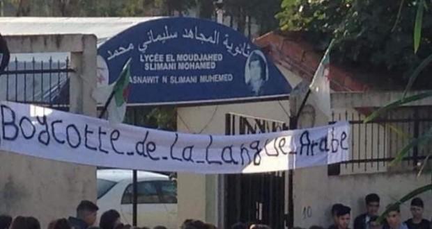 BOYCOTT DE L'ENSEIGNEMENT DE LA LANGUE ARABE À TIZI-OUZOU
