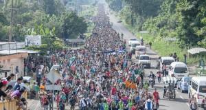 Les migrants honduriens repartent Les tensions américano-mexicaines aussi