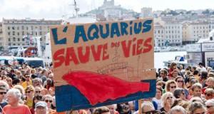 migrants Forte mobilisation pour soutenir l'«Aquarius»