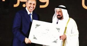 Azzedine Mihoubi, élu personnalité culturelle de l'année 2018 à Sharjah