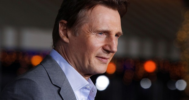 """FILE PHOTO: Irish actor Neeson poses at the premiere of his film """"Non-Stop"""" in Los Angeles"""