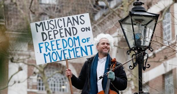 Des musiciens redoutent un Brexit discordant