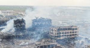Explosion dans une usine chimique en Chine Le bilan monte à 64 morts