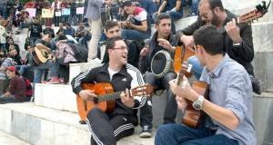 Un spectacle de rue spontané organisé