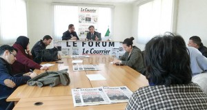 Noureddine Benissad au forum du Courrier d'Algérie