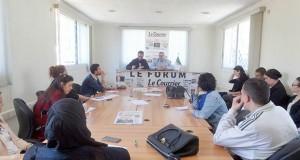 Larbi Cherif au forum du Courrier d'Algérie