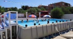 Installation de 12 piscines mobiles