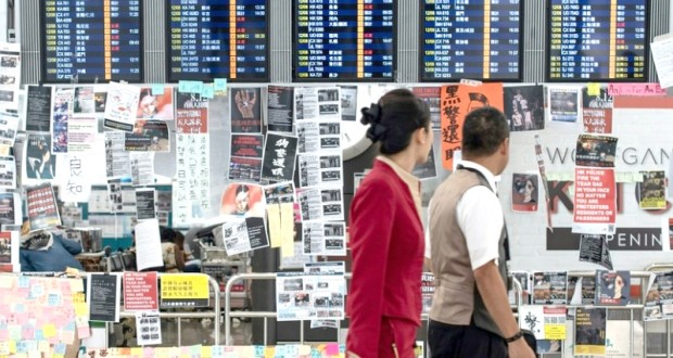 A l'aéroport de Hong Kong