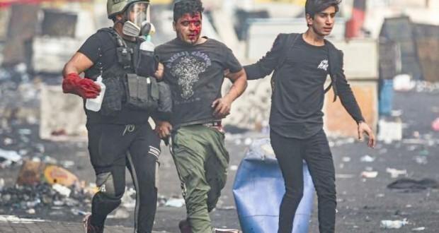 Des milliers de manifestants mutilés