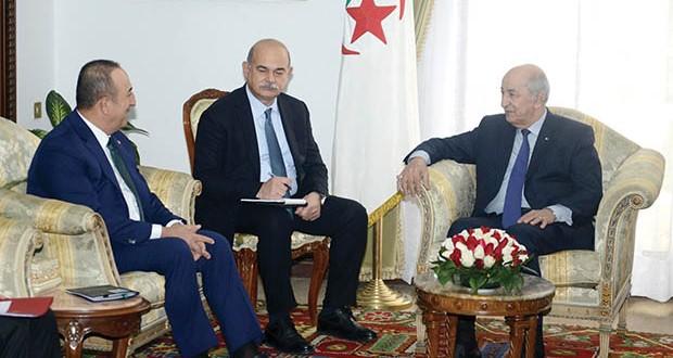 Le président de la République, Abdelmadjid Tebboune, a reçu hier, le ministre turc des Affaires étrangères, Mevlut Cavusoglu