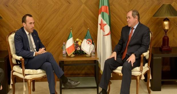 Sabri Boukadoum, reçoit le secrétaire d'Etat italien aux Affaires étrangères, Manlio Di Stefano.