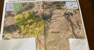 Le pathétique démenti marocain est, à son tour… démenti par les faits têtus et irréfutables du terrain, cette carte qui montre l'emplacement exact de la soldatesque marocaine.