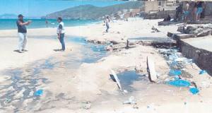 paradis plage pollution