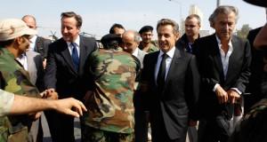 Nicolas Sarkozy en Libye (Tripoli).