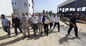 Le wali de Tizi Ouzou Mahmoud Djamaa lors de sa visite d'inspection au niveau des campus universitaires de Tamda et Oued-Aissi, samedi dernier.