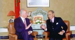 Hassan II et Shimon Peres