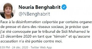Benghabrit tweet