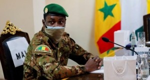 FILE PHOTO: Colonel Assimi Goita, leader of Malian military junta
