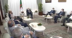 Le Président Tebboune reçoit les vice-présidents du Conseil présidentiel libyen
