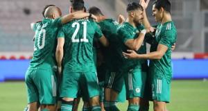 Tunisie 0 - 2 Algérie joie des Verts