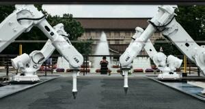 Des robots reconvertis en jardiniers zen exposés à Tokyo