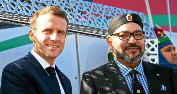 French President Emmanuel Macron visits Morocco