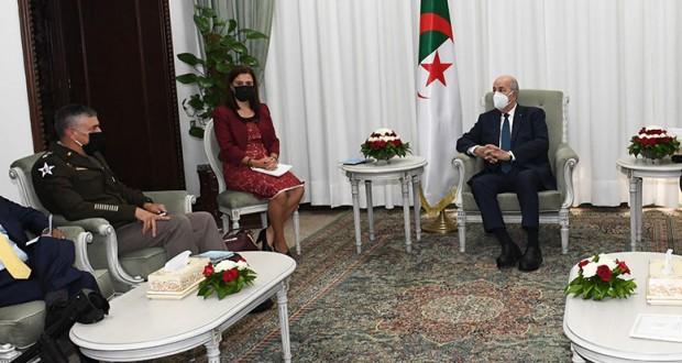 Le President Tebboune recoit le chef du commandement de AFRICOM